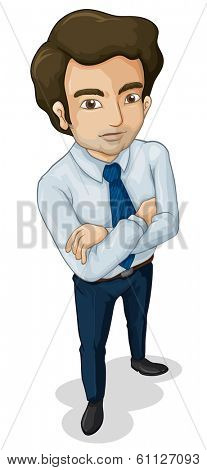 Illustration of a tall business icon on a white background