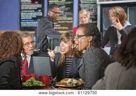 Arguing Executives In Cafeteria