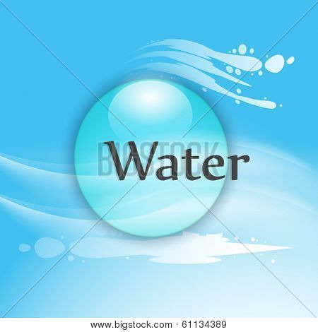 World Water Day concept with stylish text  Water and water drop on blue background.
