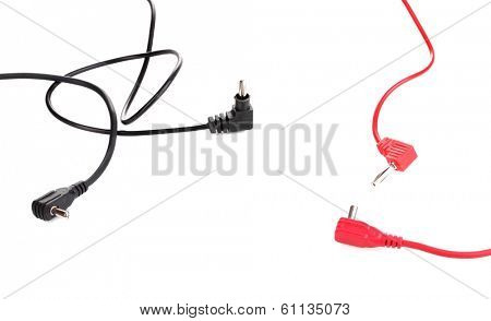 Red and black probes of multimeter isolated on white
