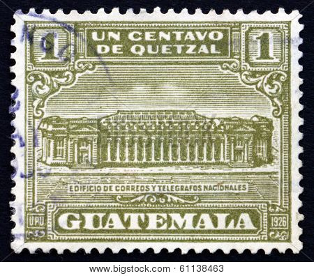 Postage Stamp Guatemala 1927 General Post Office In Guatemala City
