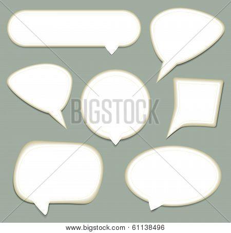 Vector  Speech Bubble set. Vector Paper Progress background. eps 10