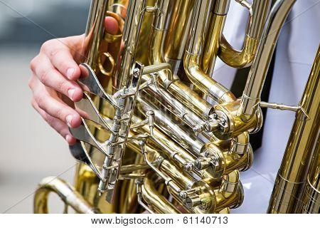 Golden Tuba Detail