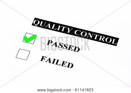 Passed Quality Control