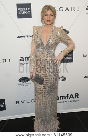 NEW YORK-FEB 5: Model Hofit Golan attends the 2014 amfAR New York Gala at Cipriani Wall Street on February 5, 2014 in New York City.