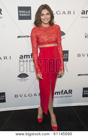 NEW YORK-FEB 5: Model Alyssa Miller attends the 2014 amfAR New York Gala at Cipriani Wall Street on February 5, 2014 in New York City.