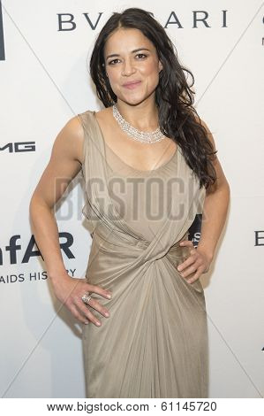NEW YORK-FEB 5: Actress Michelle Rodriguez attends the 2014 amfAR New York Gala at Cipriani Wall Street on February 5, 2014 in New York City.