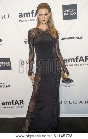 NEW YORK-FEB 5: Model Behati Prinsloo attends the 2014 amfAR New York Gala at Cipriani Wall Street on February 5, 2014 in New York City.