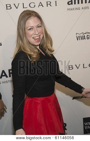 NEW YORK-FEB 5: Chelsea Clinton attends the 2014 amfAR New York Gala at Cipriani Wall Street on February 5, 2014 in New York City.