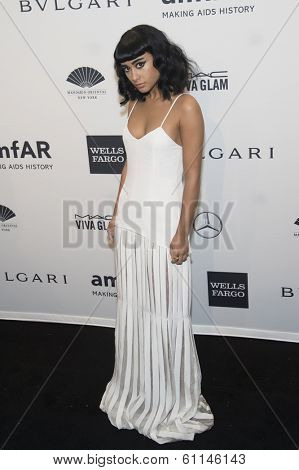 NEW YORK-FEB 5: Singer Natalia Cappuccini attends the 2014 amfAR New York Gala at Cipriani Wall Street on February 5, 2014 in New York City.