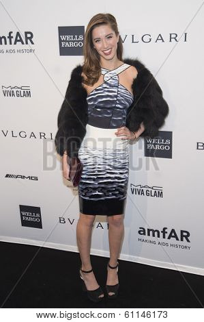 NEW YORK-FEB 5: Actress Melissa Bolona attends the 2014 amfAR New York Gala at Cipriani Wall Street on February 5, 2014 in New York City.