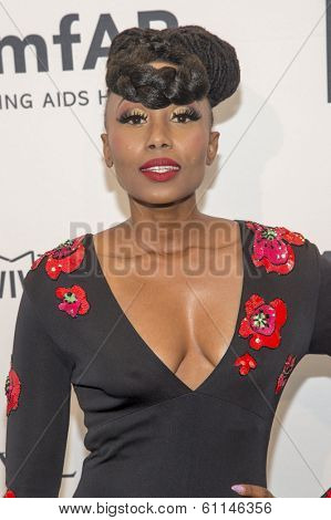 NEW YORK-FEB 5: Model Folami attends the 2014 amfAR New York Gala at Cipriani Wall Street on February 5, 2014 in New York City.