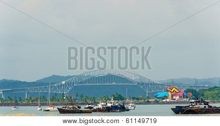 Bridge Of The Americas In Panama City.