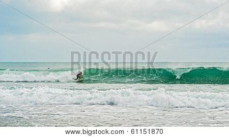 Surfing In Bocas Del Toro In Panama