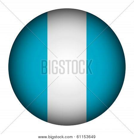 Guatemala Flag Button.