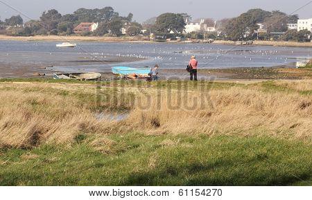 The coast at Avon in hampshire