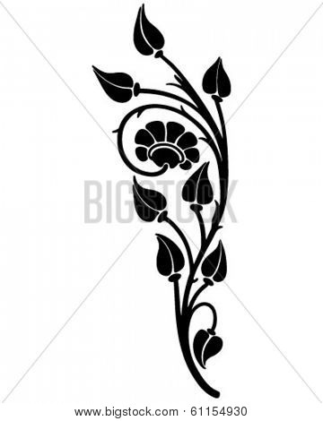 Floral Motif - Retro Clip Art Illustration
