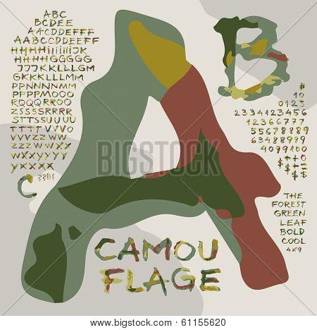 Alphabet  /Camouflage-1/