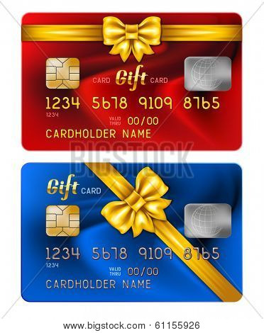 Vector illustration of detailed credit card with celebratory design, isolated on white background