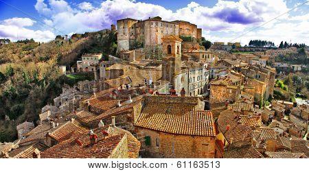 Picturesque medieval village Sorano, Grosseto, Tuscany, Italy