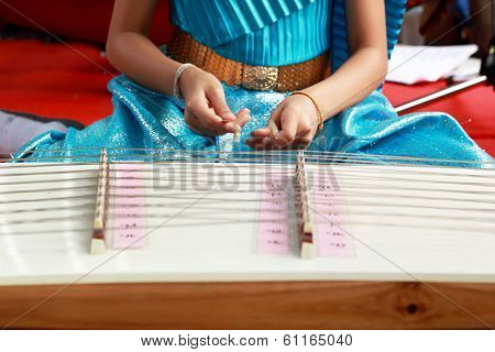 Children Playing Dulcimer Thailand