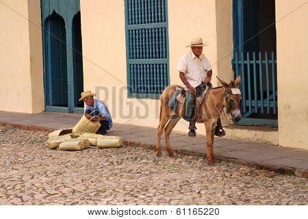 Men In Trinidad, Cuba