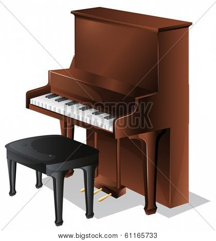 Illustration of a piano on a white background