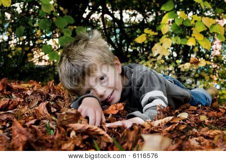 Little boy in Autumn