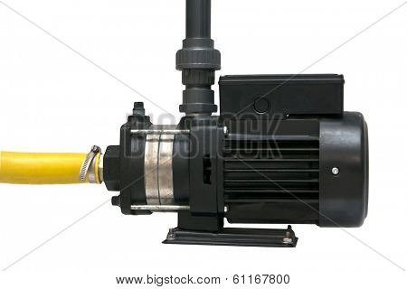 The electric water pump, isolated on the white.
