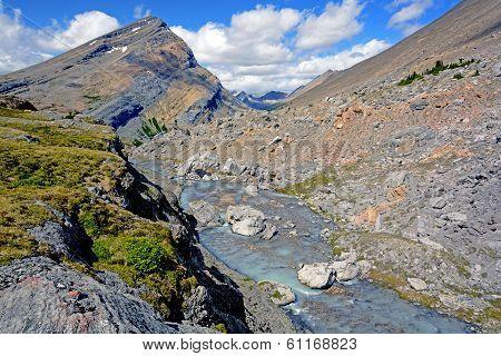 Barren Rocks At A Mountain Pass