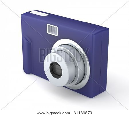 Digital Compact Photo Camera Isolated on the White Background