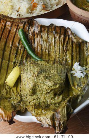 Bhetki Paturi - Fish Wrapped In A Banana Leaf