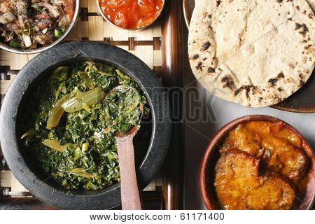 Saag Bhaji - A Vegetarian Dish From North Eastern Part Of India.