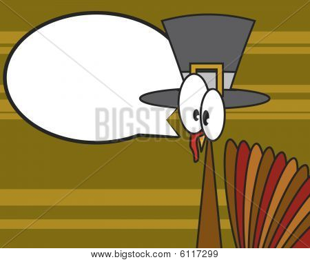 Vector Thanksgiving Holiday Cartoon Turkey Design / Graphic
