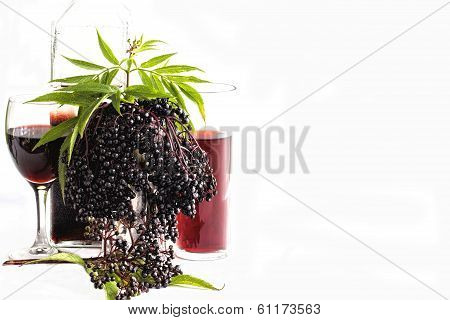 Black Elder Berry Fruit, Liquor, Wine And Cordial