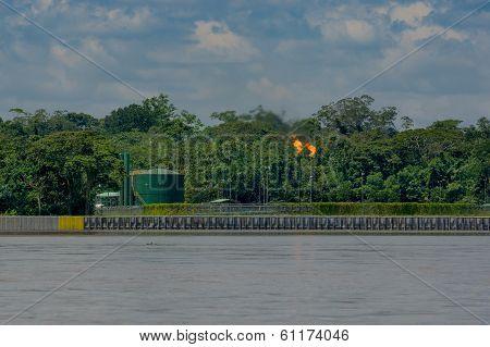 Oilfields in the Amazon, Yasuni area, Ecuador