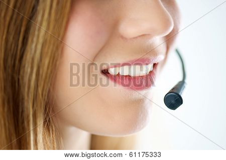 Woman's Lips With Microphone