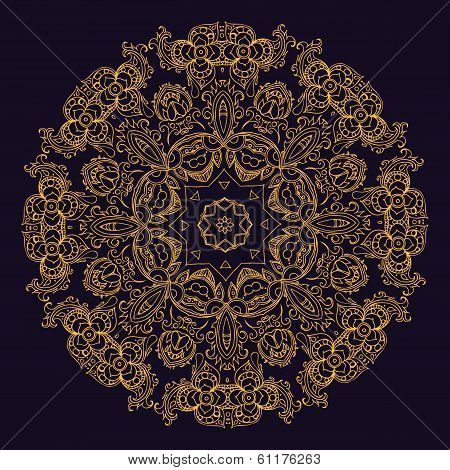 Gold indian mandala
