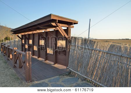 Wooden Wall With Windows For Watching Wild Bird