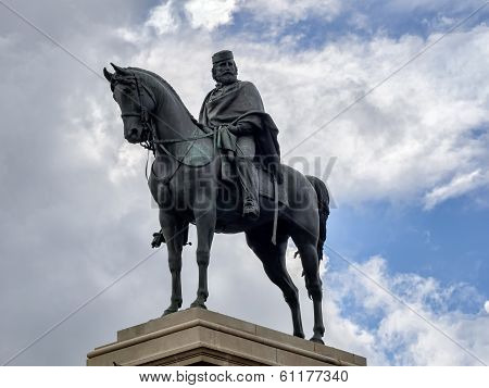 Garibaldi Monument At Gianicolo In Rome, Italy