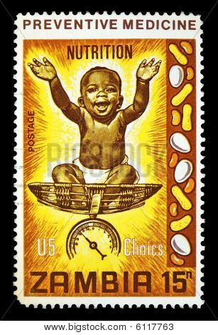Nutrition Postage Stamp