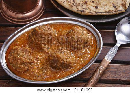 Mutton Kofta Curry - A Mutton Dumplings Cooked In A Yogurt Based Gravy