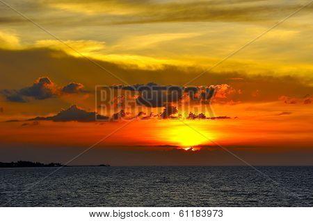 Sunset At Samui Island