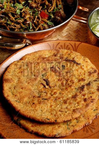 Missi Roti - Flatbread Made From Wheat And Gram Flour