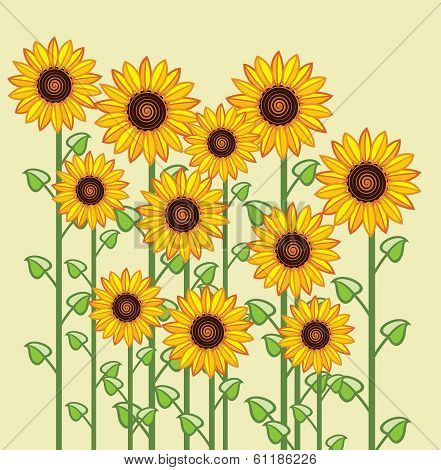 Vector Sunflowers