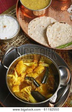 Cauliflower Brinjal Curry from India