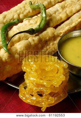 Fafda - A Snack From Western Indian State Of Gujarat Made Of Gram Flour