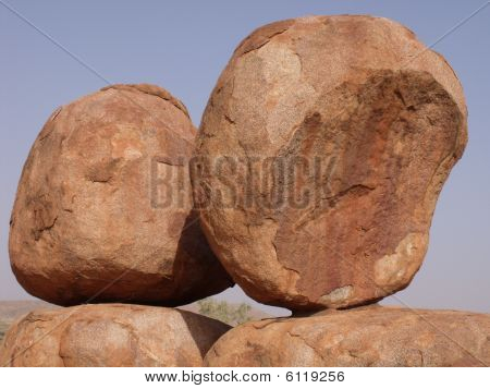 Two Rocks at Devils Marbles