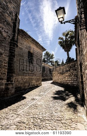 Very Narrow Street Typical Of Baeza