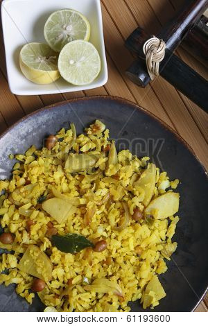 Poha - A Snack Made Of Beaten Rice